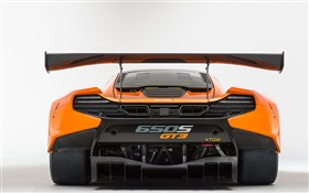 2015 650S GT3 McLaren supercar rear view HD wallpaper