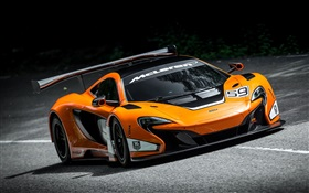2015 650S GT3 McLaren supercar, road HD wallpaper