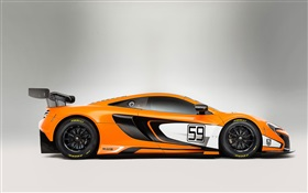 2015 650S GT3 McLaren supercar side view HD wallpaper