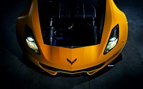 2015 Chevrolet Corvette Z06 supercar front view HD wallpaper