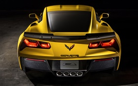 2015 Chevrolet Corvette Z06 supercar rear close-up HD wallpaper