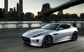 2015 Jaguar F-Type R car side view