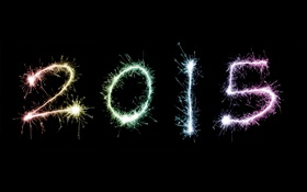 2015 New Year fireworks HD wallpaper