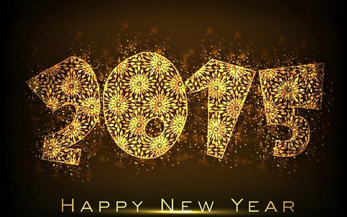 2015 New Year, golden flower HD Wallpapers | Celebrations | Desktop