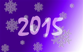 2015 with snowflakes HD wallpaper
