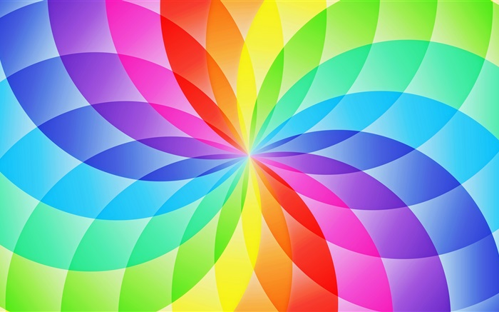 Abstract circle sector, colorful flower Wallpapers Pictures Photos Images