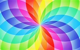 Abstract circle sector, colorful flower HD wallpaper