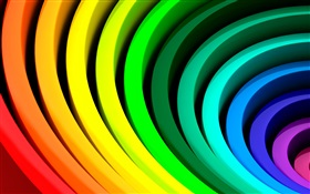 Abstract circles, rainbow colors HD wallpaper