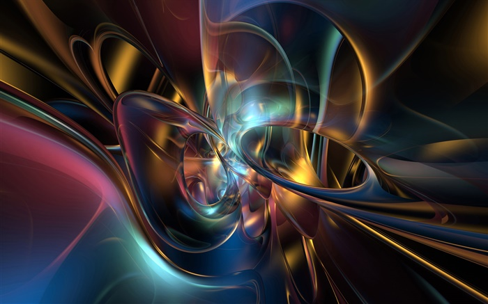 Abstract curve, colorful style Wallpapers Pictures Photos Images