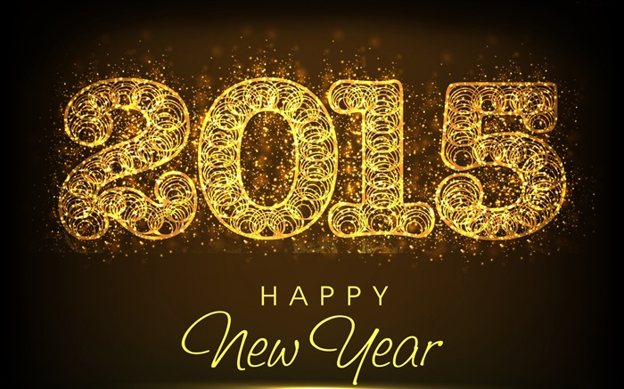 Abstract golden creative 2015 New Year Wallpapers Pictures Photos Images