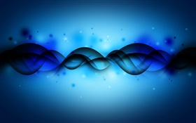 Abstract intersecting curve, blue background HD wallpaper