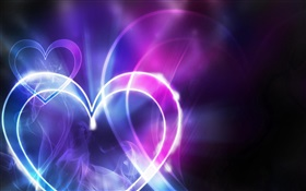 Abstract love heart-shaped light HD wallpaper