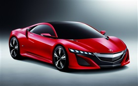 Acura Nsx red concept car HD wallpaper