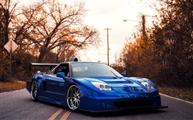 Acura blue supercar HD wallpaper