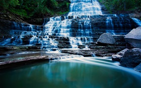Albion Falls, Hamilton, Ontario, Canada, waterfalls, lake HD wallpaper