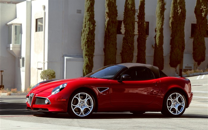 Alfa Romeo 8C spider supercar Wallpapers Pictures Photos Images