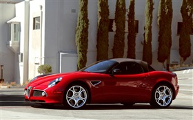 Alfa Romeo 8C spider supercar HD wallpaper