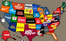 American map of brands HD wallpaper