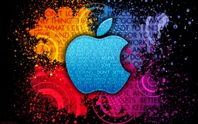 Apple colorful background HD wallpaper