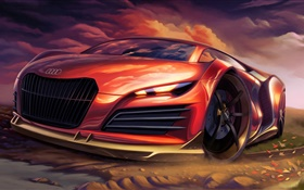 Audi supercar design HD wallpaper