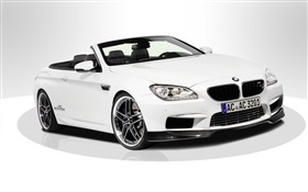 BMW M6 F13 white car HD wallpaper