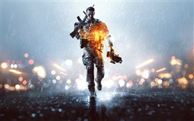 Battlefield 4, night, soldier HD wallpaper