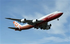 Boeing 747 plane flight in sky HD wallpaper