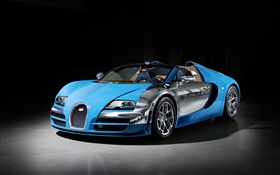 Bugatti Veyron 16.4 blue supercar HD wallpaper