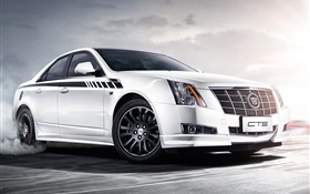 Cadillac CTS Vday white car HD wallpaper