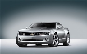 Chevrolet silver car front view HD wallpaper