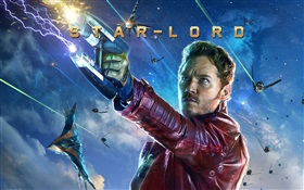 Chris Pratt as Star-Lord, Guardians of the Galaxy HD wallpaper
