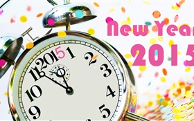 Clock and New Year 2015 HD wallpaper