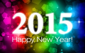Colorful lights, 2015 New Year HD wallpaper