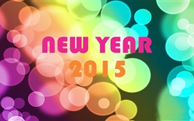 Colorful of New Year 2015 HD wallpaper