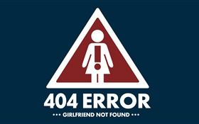 Creative pictures, 404 Error, Girlfriend not found HD wallpaper