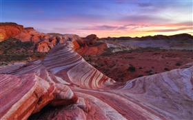 Desert, rocks, sky, red, America HD wallpaper