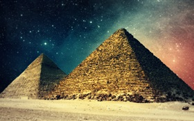 Egyptian Pyramids HD wallpaper