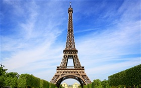 Eiffel Tower, Paris, France, blue sky HD wallpaper