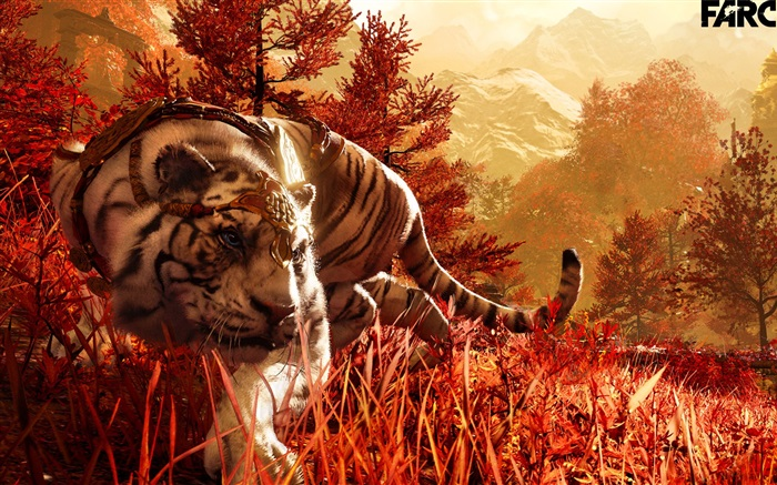 Far Cry 4, white tiger Wallpapers Pictures Photos Images