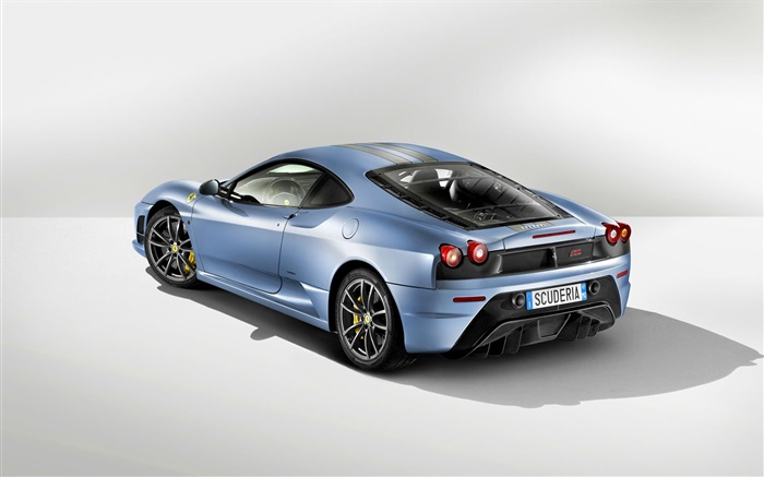 Ferrari Light Blue Car Rear View Wallpapers Pictures Photos Images
