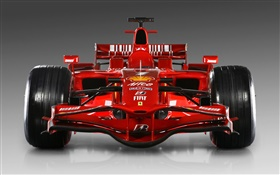 Ferrari red race car front view HD wallpaper