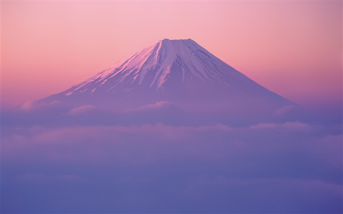 Fuji mountain, dusk Wallpapers Pictures Photos Images