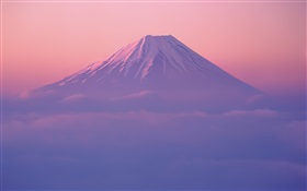 Fuji mountain, dusk HD wallpaper