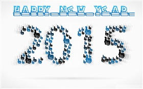 Gesture collection design, New Year 2015 HD wallpaper