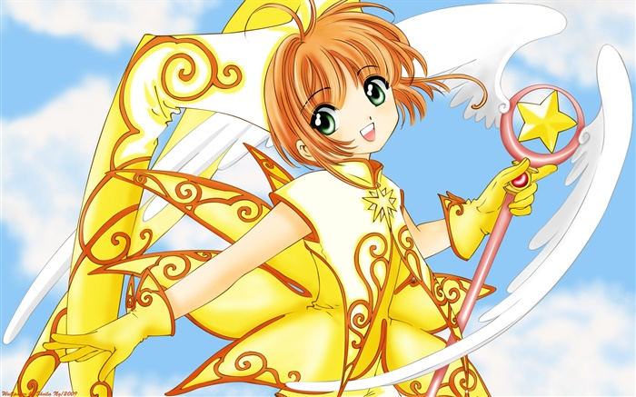 Golden dress anime girl Wallpapers Pictures Photos Images