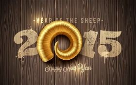 Happy New Year 2015, Sheep Year HD wallpaper