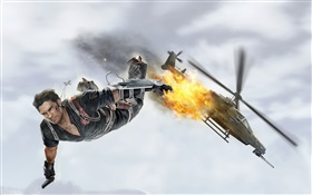 Just Cause 3, jumped out of the aircraft HD wallpaper