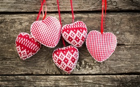Knit art, love heart HD wallpaper