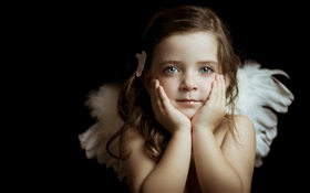 Lovely little angel girl HD wallpaper