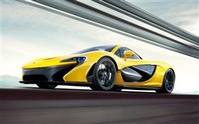 McLaren P1 yellow supercar